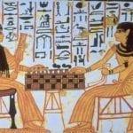 ancient hyroglyphs of people gambling