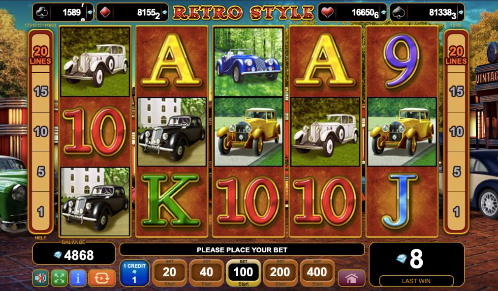 Retro Style Slot Machine
