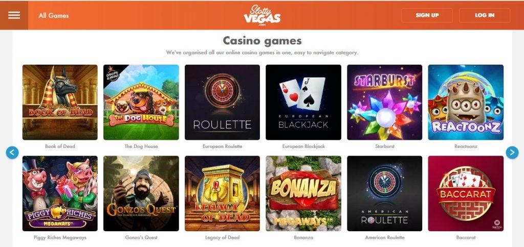 slotty vegas casino games
