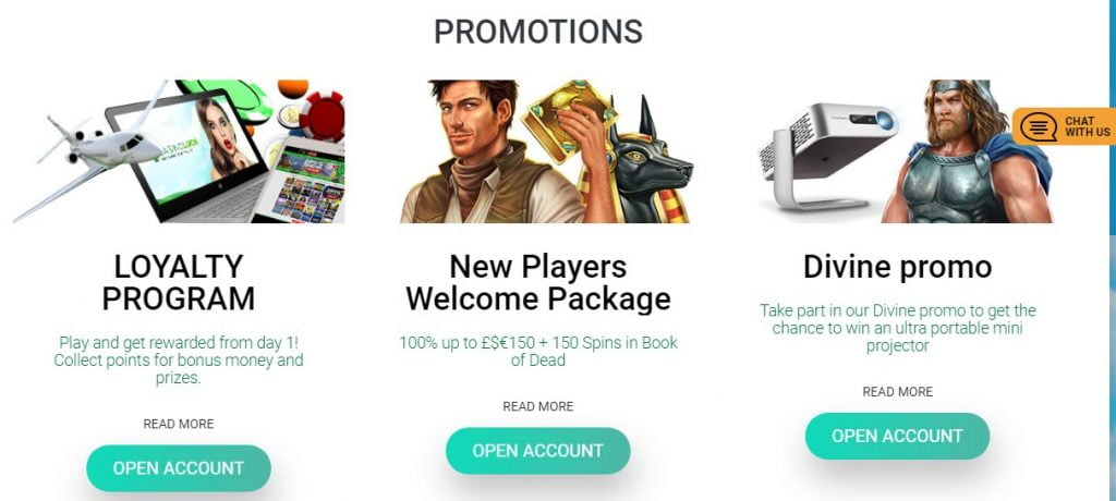 CasinoLuck Casino promotions