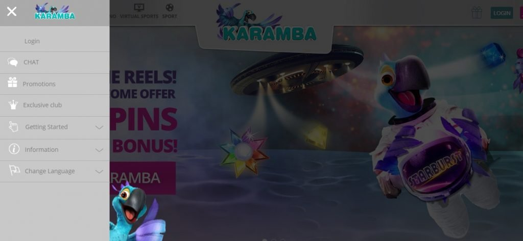 Karamba casino layout