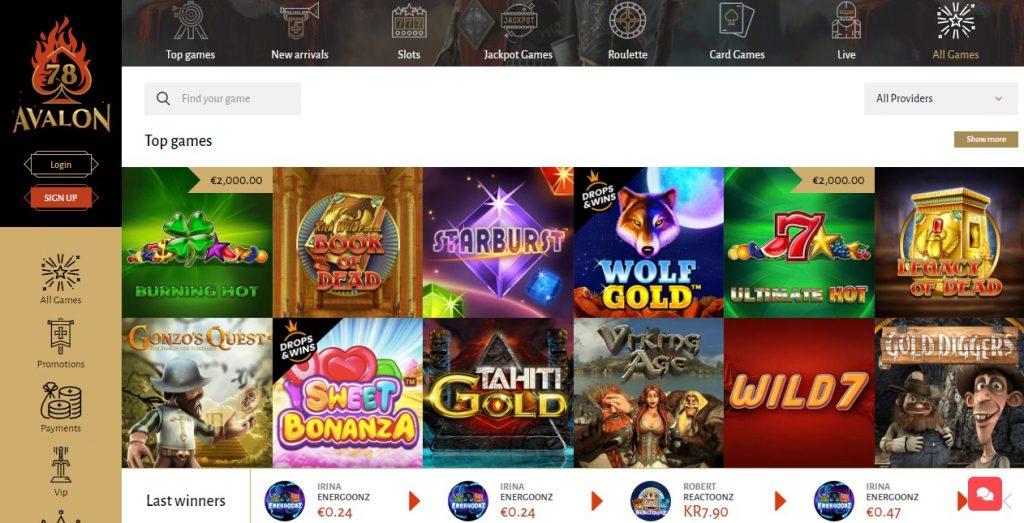 Avlon78 casino layout