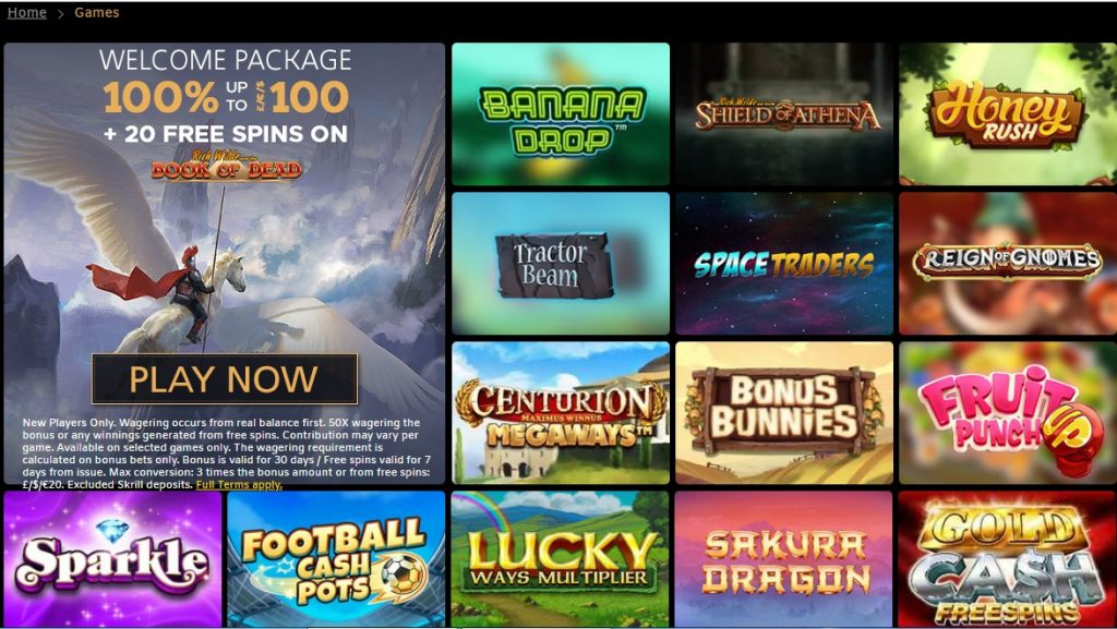 games at sparkle slots casino