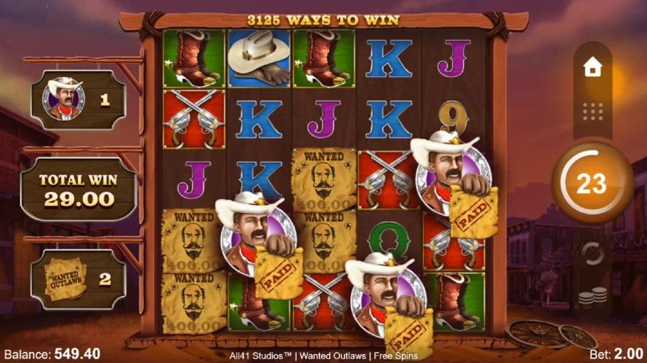 Wanted Outlaw Slot