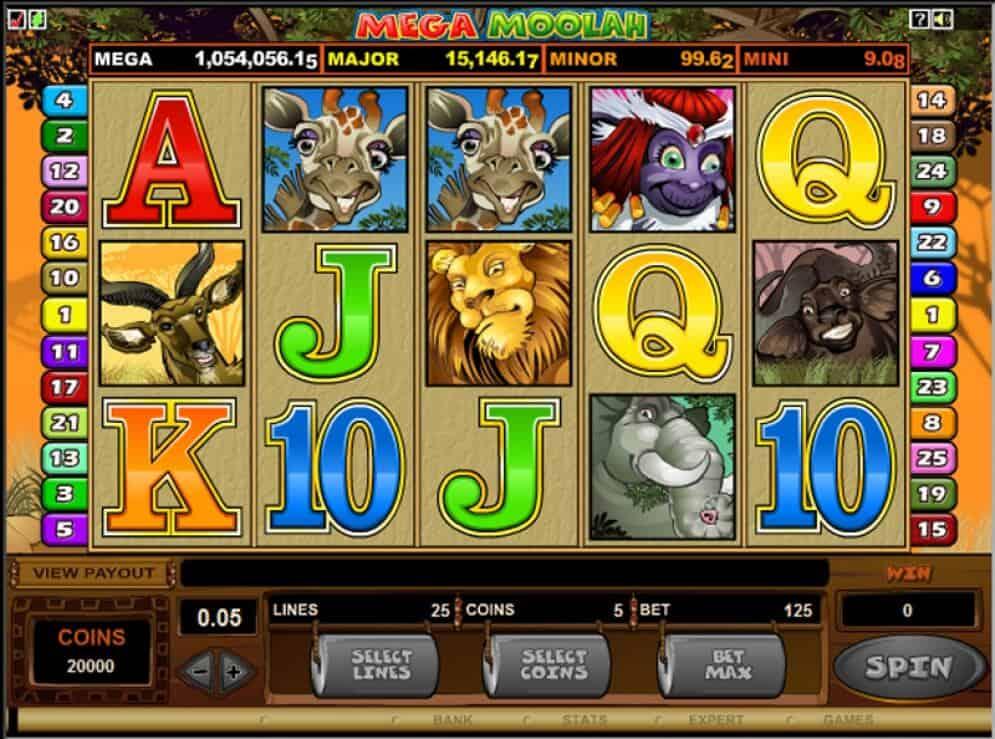 mega moolah slot game