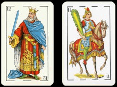 teh spanish version of the cards jack and king