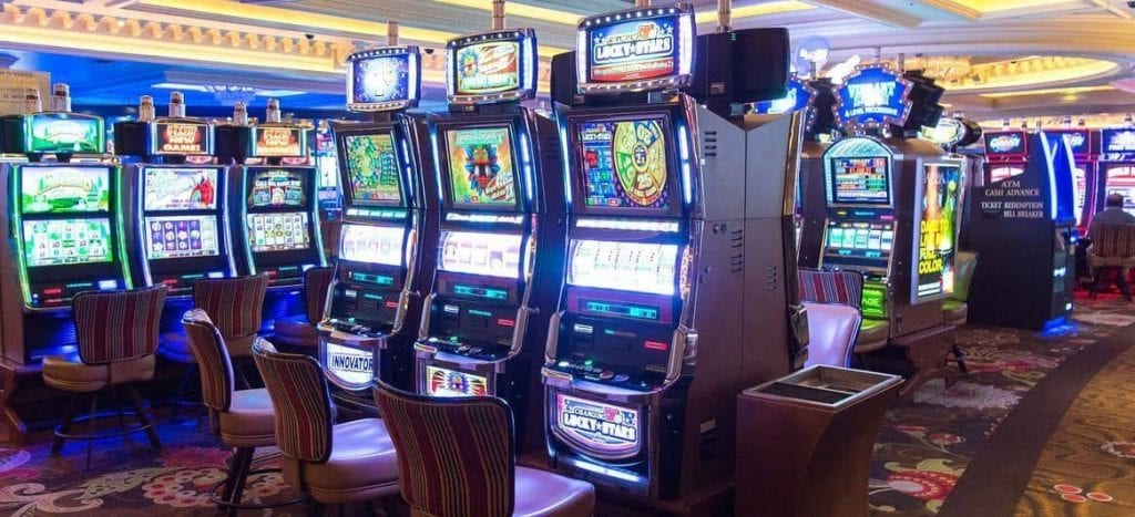 slot machines in casino room