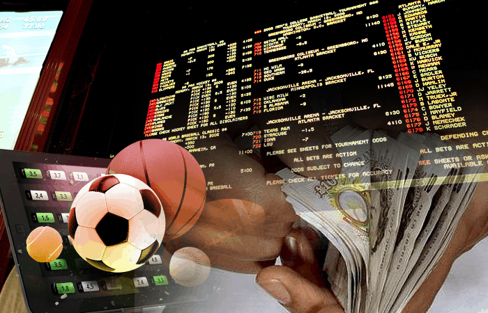 sports balls with money beside them